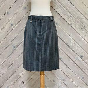Micheal Kors Grey Pinstripe Skirt